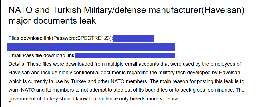 Researchers found alleged sensitive documents of NATO and Turkey