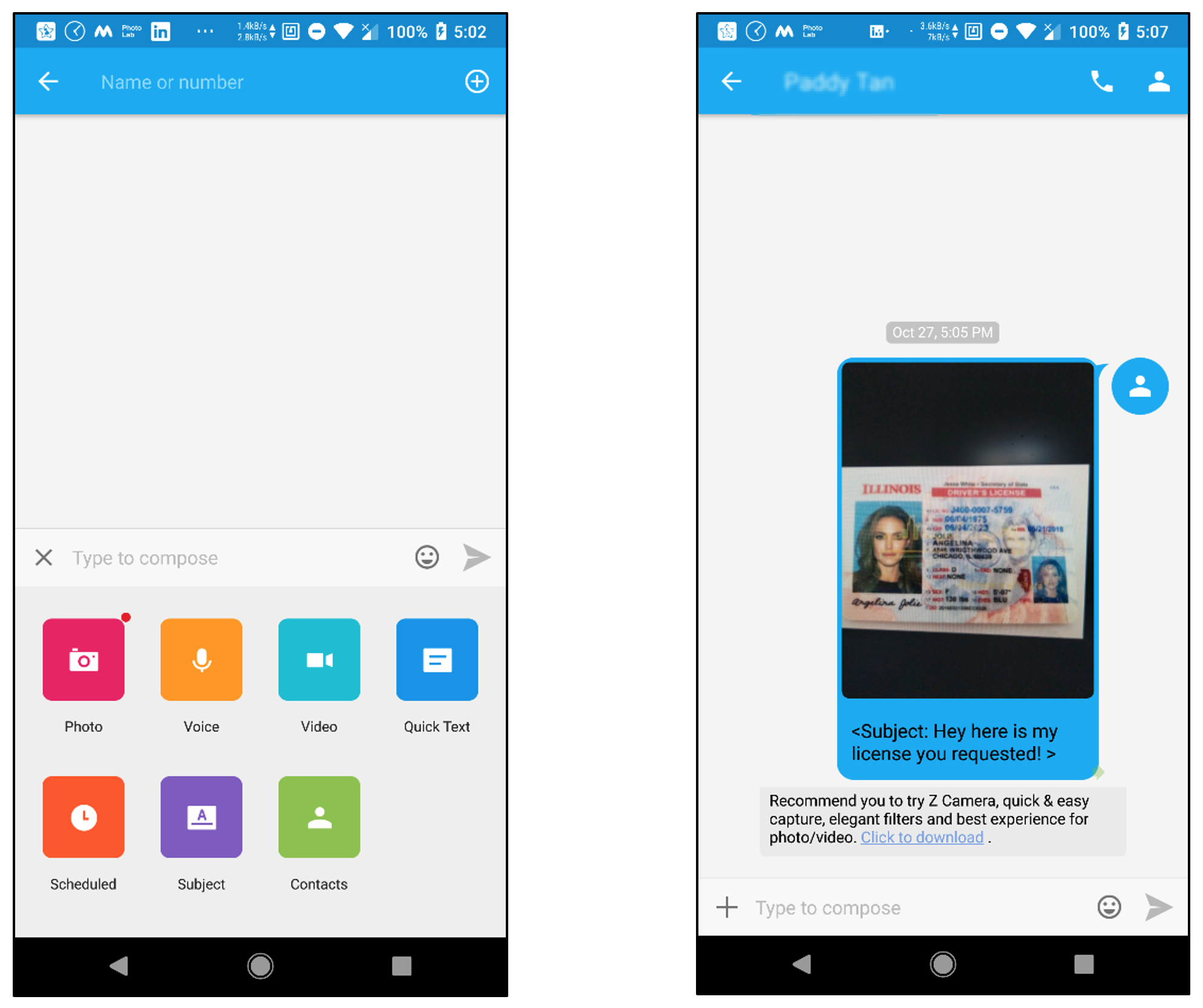 A flaw in GO SMS Pro App allows accessing media messages