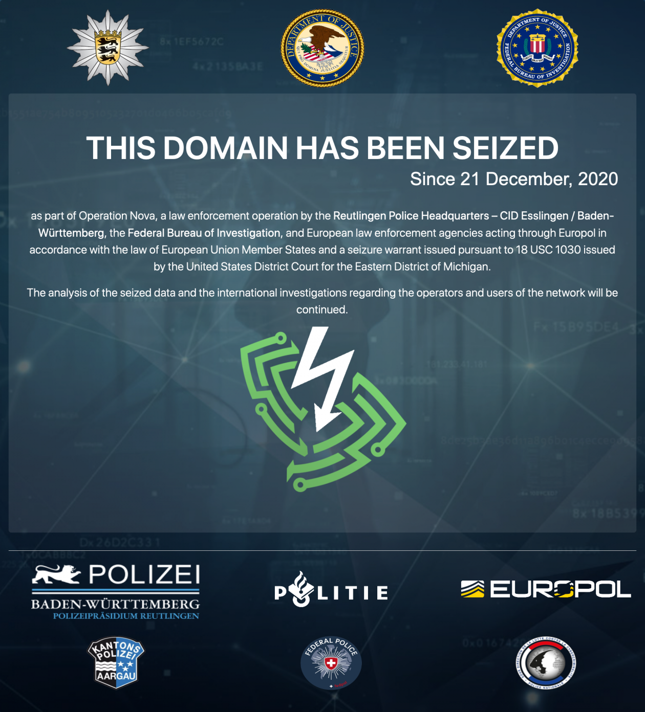 Bulletproof VPN services took down in a global police operation