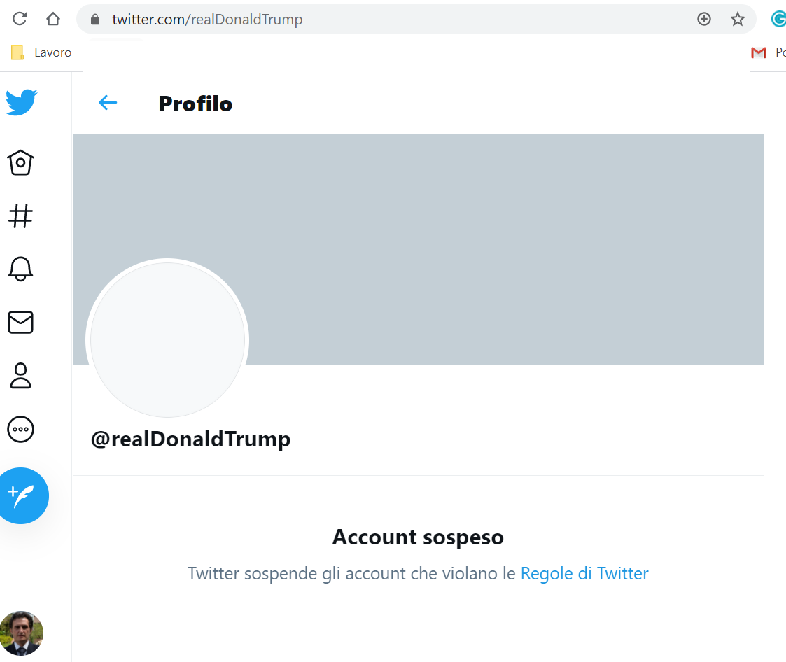 Twitter has permanently suspended the account of President Donald Trump