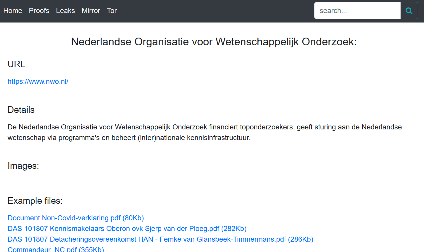 Dutch Research Council (NWO) confirms DoppelPaymer ransomware attack