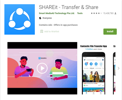 Popular SHAREit app is affected by severe flaws yet to be fixed