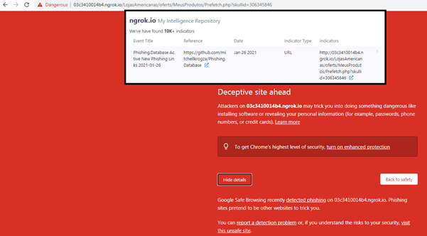 Hackers abusing the Ngrok platform phishing attacks