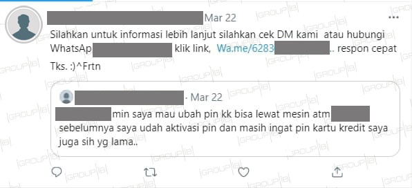 5-star customer service: fraudsters launch massive campaign against Indonesia's major banks on Twitter