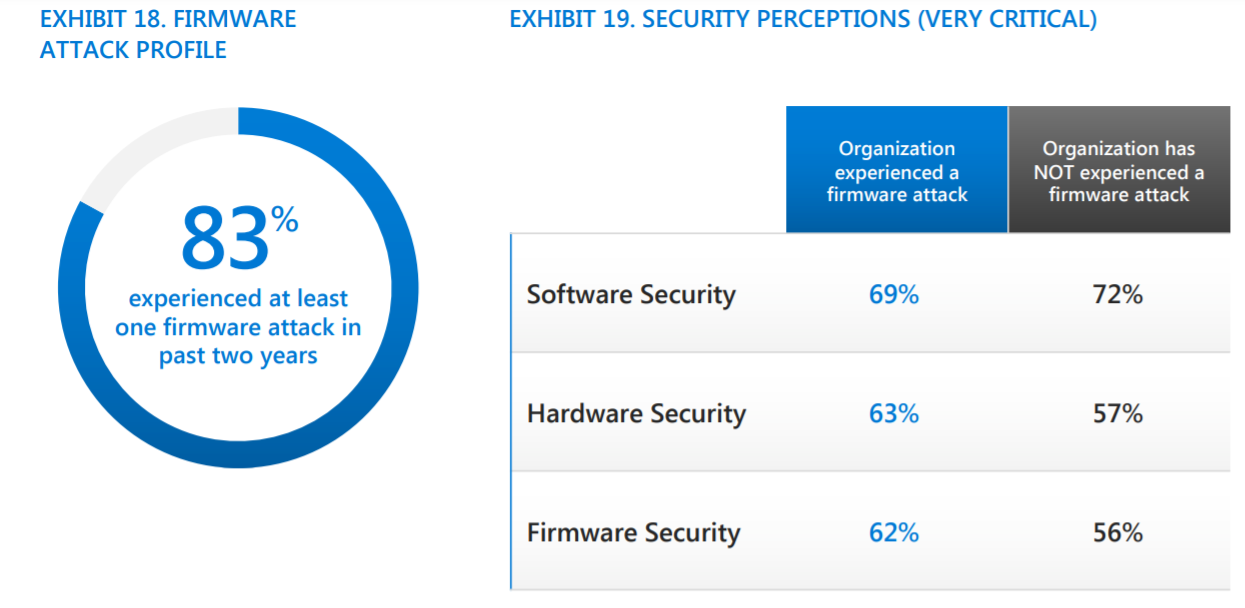 Firmware attacks, a grey area in cybersecurity of organizations
