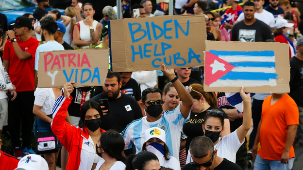 Social media partially disrupted in Cuba amid anti-government protests
