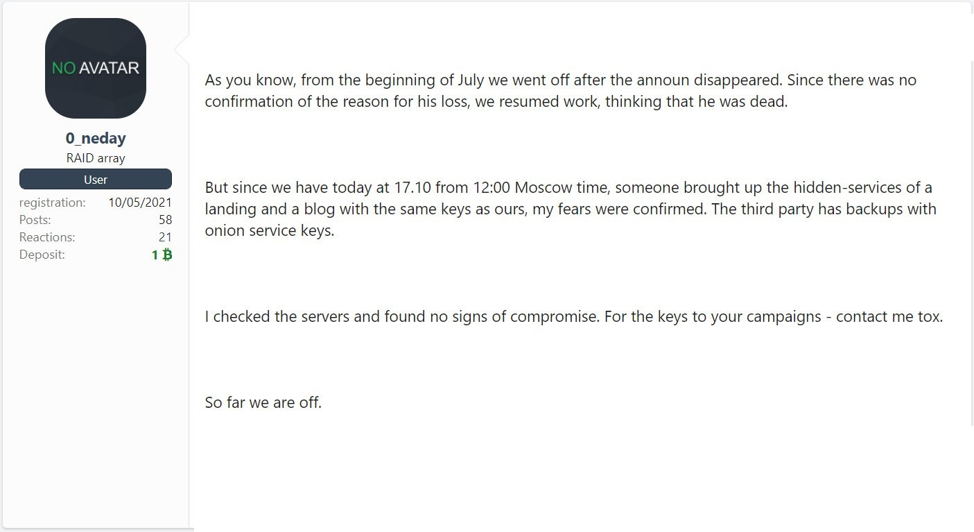REvil ransomware operation shuts down once again