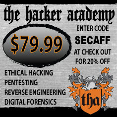 Join to The Hacker Academy with SECAFF code